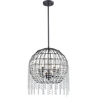Picture for category Elk Lighting 15305/5 Pendants Oil Rubbed Bronze Metal/Crystal Yardley