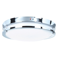 Picture for category Access Lighting 20464LEDEM-BS/ACR Flush Mounts Brushed Steel Aluminum Solero