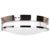 Picture for category Access Lighting 20466LEDEM-BS/ACR Flush Mounts Brushed Steel Aluminum Solero