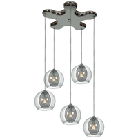 Picture for category Access Lighting 52076-CH/CLR Pendants Chrome Metal Aeria
