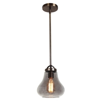 Picture for category Access Lighting 55545LEDDLP-DBRZ/SMK Pendants Distressed Bronze Metal Flux