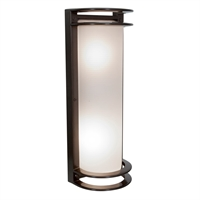 "Picture for category Wall Sconces 2 Light Fixtures With Bronze Finish Aluminum Material E-26 Type 6"" 18 Watts"