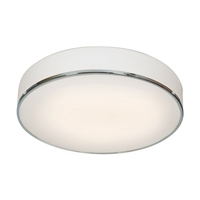 "Picture for category Flush Mounts 3 Light Fixtures With Chrome Finish Metal Material E-26 Type 4"" 30 Watts"