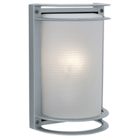 "Picture for category Wall Sconces 1 Light Fixtures With Satin Finish Aluminum Material E-26 Type 11"" 60 Watts"
