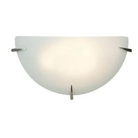 "Picture for category Wall Sconces 1 Light Fixtures With Brushed Steel Finish Steel Material E-26 Type 13"" 10 Watts"