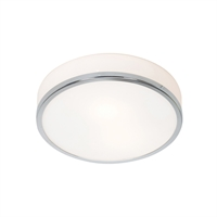 "Picture for category Flush Mounts 1 Light Fixtures With Chrome Finish Steel Material E-26 Type 4"" 10 Watts"
