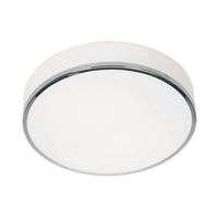 "Picture for category Flush Mounts 2 Light Fixtures With Chrome Finish Steel Material E-26 Type 4"" 20 Watts"
