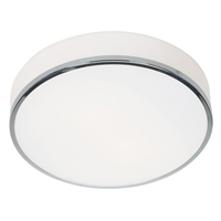 "Picture for category Flush Mounts 3 Light Fixtures With Chrome Finish Steel Material E-26 Type 5"" 30 Watts"