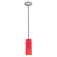 "Picture for category Pendants 1 Light Fixtures With Brushed Steel Finish Metal Material E26 Type 10"" 100 Watts"