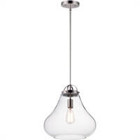 Picture for category Maxim Lighting 10093CLSN Pendants Satin Nickel Steel and Glass Stella