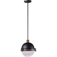 Picture for category Maxim Lighting 10187OIAB Outdoor Pendant Oil Rubbed Bronze and Antique Brass Aluminum and Brass Portside