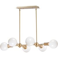 Picture for category Maxim Lighting 11346SBR Island Lighting Satin Brass Steel Molecule