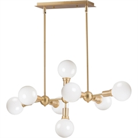 Picture for category Maxim Lighting 11348SBR Island Lighting Satin Brass Steel Molecule