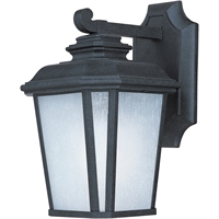 "Picture for category Wall Sconces 1 Light Fixtures With Black Oxide Finish Die Cast Aluminum Material MB 7"" 9 Watts"