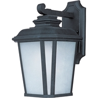"Picture for category Wall Sconces 1 Light Fixtures With Black Oxide Finish Die Cast Aluminum Material MB 9"" 12 Watts"