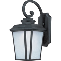 "Picture for category Wall Sconces 1 Light Fixtures With Black Oxide Finish Die Cast Aluminum Material MB 11"" 12 Watts"