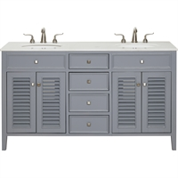Picture for category World of Classic WE325278 Decor Grey and Brushed Steel Rubberwood/Solid Wood/MDF/Marble/Porcelain Meissa