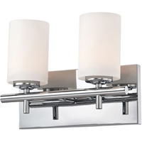 "Picture for category Bathroom Vanity 2 Light Fixtures With Chrome Finish Metal Glass Material Medium Bulb 12"" 200 Watts"