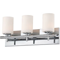 "Picture for category Bathroom Vanity 3 Light Fixtures With Chrome Finish Metal Glass Material Medium Bulb 19"" 300 Watts"