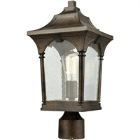 "Picture for category Outdoor Post 1 Light Fixtures With Hazelnut Bronze Finish Metal Glass Material Medium Bulb 8"" 100 Watts"