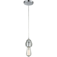 Picture for category Pendants 1 Light Fixtures With Polished Chrome Finish Metal/Glass Material Medium Bulb 3""