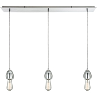 Picture for category Pendants 3 Light Fixtures With Polished Chrome Finish Metal/Glass Material Medium Bulb 36""