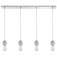 Picture for category Pendants 4 Light Fixtures With Polished Chrome Finish Metal/Glass Material Medium Bulb 46""