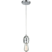 Picture for category Pendants 1 Light Fixtures With Polished Chrome Finish Metal/Crystal Material Medium Bulb 3""