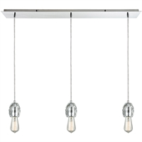 Picture for category Pendants 3 Light Fixtures With Polished Chrome Finish Metal/Crystal Material Medium Bulb 36""