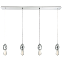 Picture for category Pendants 4 Light Fixtures With Polished Chrome Finish Metal/Crystal Material Medium Bulb 46""