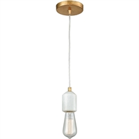 Picture for category Pendants 1 Light Fixtures With Antique Gold Leaf Finish Metal/Marble Material Medium Bulb 2""