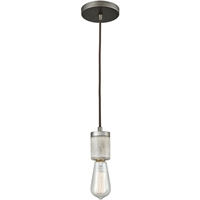Picture for category Pendants 1 Light Fixtures With Weathered Zinc Finish Metal/Wood Material Medium Bulb 2""