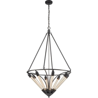 Picture for category Pendants 8 Light Fixtures With Oil Rubbed Bronze Finish Metal Material Medium Bulb 27""
