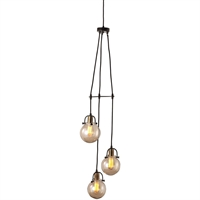 Picture for category Uttermost 22141 Pendants Weathered Bronze and Antique Brass Steel/Glass Methuen