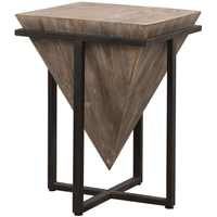 Picture for category Uttermost 24864 Tables Gray Wash Aged Fir Wood and Aged Black Iron/Fir Wood/MDF Bertrand