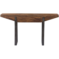 Picture for category Uttermost 25404 Tables Weathered Dark Honey Stain and Aged Bronze Mahogany Wood/Iron Metal Emryn