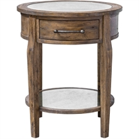 Picture for category Uttermost 25418 Tables Weathered Pecan with Gray Wash and Antique Mirror Jaawood/MDF and Plywood Carb Phase 2/Antique Mirror Raelynn