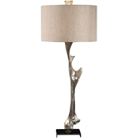 Picture for category Uttermost 27929 Table Lamps Metallic Siler and Black Nickel Resin/Steel/Linen Ophion