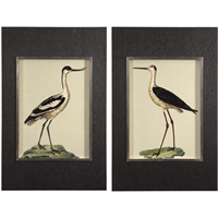 Picture for category Uttermost 41586 Decor Dark Charcoal Grass Cloth Frames Pine/Glass/MDF/Paper Birds On The Shore