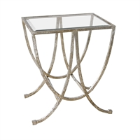Picture for category World of Decor RL-128750 Tables Antique Siler IRON, TEMPERED GLASS Canopus