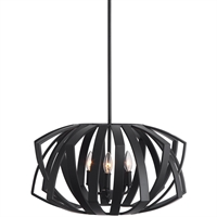 Picture for category World of Decor RL-259961 Pendants Matte Black Steel Peach Tree