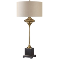 Picture for category World of Decor RL-260032 Table Lamps Metallic Gold Steel/Resin/Fabric Algol