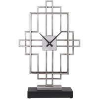 Picture for category World of Decor RL-337100 Clock Antique Siler and Matte Black Iron/MDF Canopus