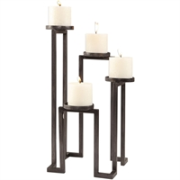 Picture for category World of Decor RL-337165 Decor Aged Steel Iron/Candle Segin