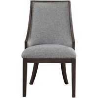 Picture for category World of Decor RL-337242 Chairs Light Denim and Ebony Stain Birch Wood/Plywood/Fabric/Metal/Foam Kraz