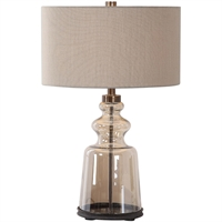 Picture for category World of Decor RL-337300 Table Lamps Amber Glass and Dark Bronze Iron/Glass/Fabric Schedar