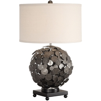 Picture for category World of Decor RL-337313 Table Lamps Metallic Siler with Charcoal Wash Steel/Fabric Kursa