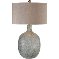 Picture for category World of Decor RL-337332 Table Lamps Aged White with Blue Green Highlights Glass/Fabric/Iron Bellatrix