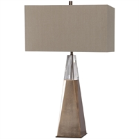 Picture for category World of Decor RL-337349 Table Lamps Antiqued Brass and Elegant Cut Crystal Steel/Crystal/Linen Dabih