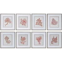 Picture for category World of Decor RL-337401 Decor Red with Champagne Siler Leaf Plastic/Glass/KT Board Bellatrix